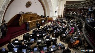 The Venezuelan National Assembly in session, 11 January 2011