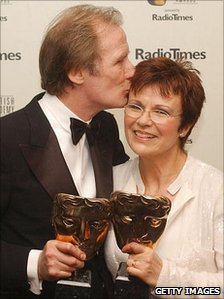 Bill Nighy and Julie Walters at the Bafta TV awards in 2004