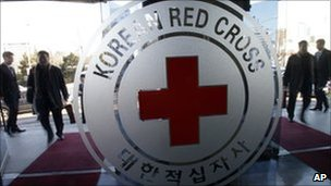 Korea Red Cross hq in Seoul, South Korea 12 Jan 2011