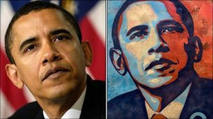 Mannie Garcia's photo and Shepard Fairey's image