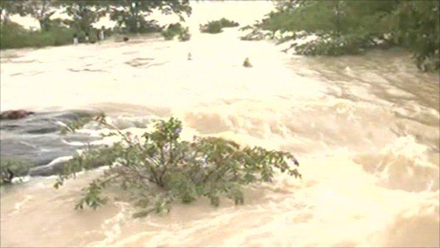 Flood water in Sri Lanka
