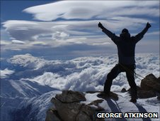 George Atkinson on top of Denali