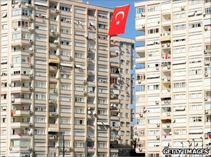 Istanbul apartment blocks
