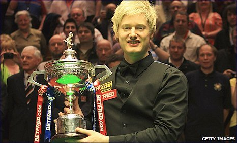 Neil Roberton claimed the 2010 world snooker crown
