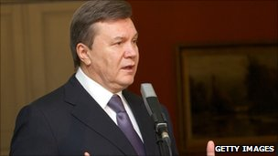 Ukrainian President Viktor Yanukovych