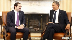 Saad Hariri meets Barack Obama in Washington (12 January 2011)