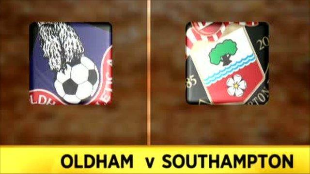 Oldham 0-6 Southampton