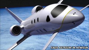 Astrium space jet concept (© Marc Newson Limited 2007)