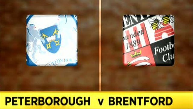 Peterborough 2-1 Brentford