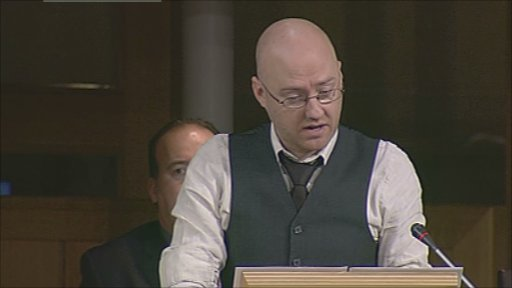 Convener of the Transport Committee Patrick Harvie MSP