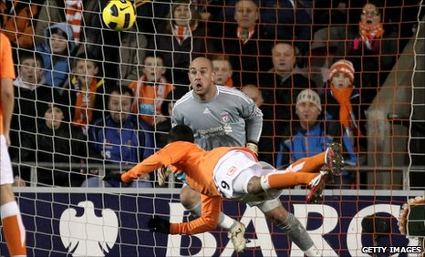 DJ Campbell scores the winner for Blackpool
