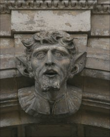 Stone face from Worcester Guildhall
