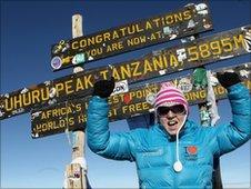 Gail Emms on Mount Kilimanjaro
