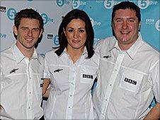Anthony Davidson, Natalie Pinkham and David Croft