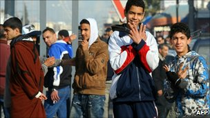 The month-long protests have reached the centre of the capital, Tunis