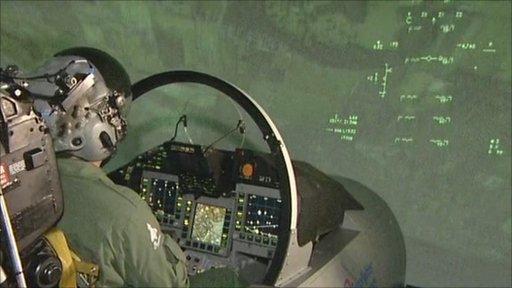 pilot in a simulator