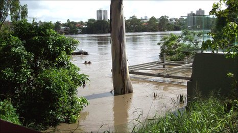 Brisbane floods taken by Nottingham expat Robert Lamb