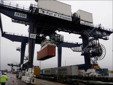 The new crane at Felixstowe