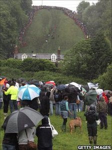 Cheese Rolling on Cooper's Hill in Brockworth, Gloucestershire