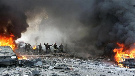 Scene of car bomb in 2005