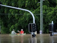 Residents in town of Theodore use boat to get around