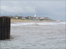 Southwold harbour and lighthouse
