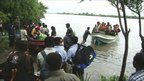 People being evacuated in Batticaloa