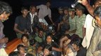 People being rescued in Batticaloa