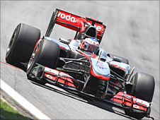 Jenson Button in action
