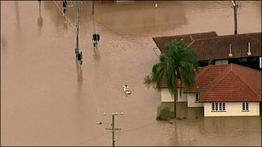 Flooding in Brisbane, Australia