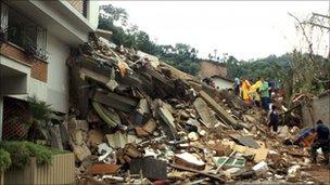 Landslide destruction in Nova Friburgo, 13 Jan