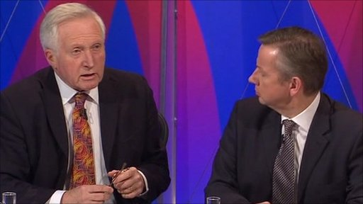 David Dimbleby and Michael Gove
