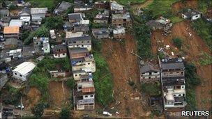 Landslide in Nova Friburgo