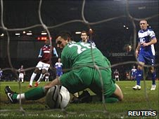 Ben Foster's mistake gifted West Ham a 2-1 win.