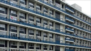 A block of council flats