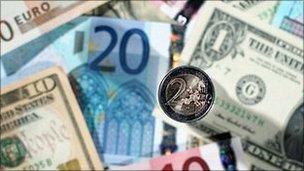 Курс евро в украинских банках