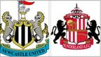 Newcastle and Sunderland badges