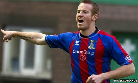 Inverness striker Adam Rooney