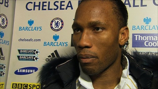 Chelsea striker Didier Drogba reflects on his side&amp;apos;s 2-0 win over Blackburn