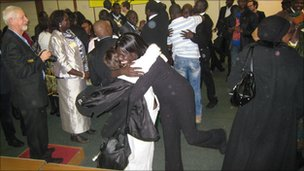 Voters celebrated as the result was announced