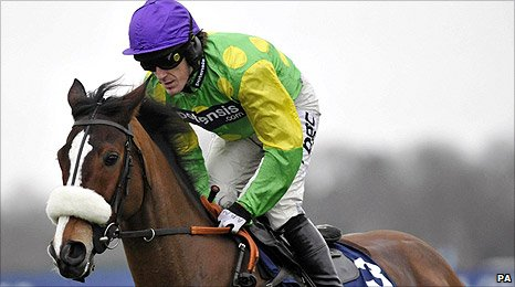 Kauto Star and Tony McCoy at the King George VI Chase