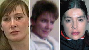 L-r Shelley Armitage, Susan Rushworth and Suzanne Blamires