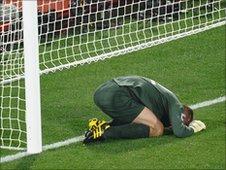 England goalkeeper Rob Green