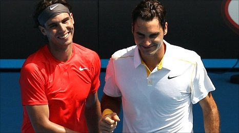 Nadal and Federer played a recent charity match together