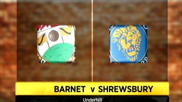Barnet 1-1 Shrewsbury