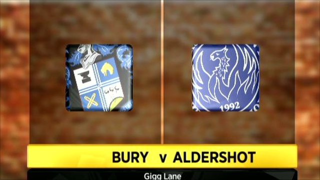 Bury 1-1 Aldershot