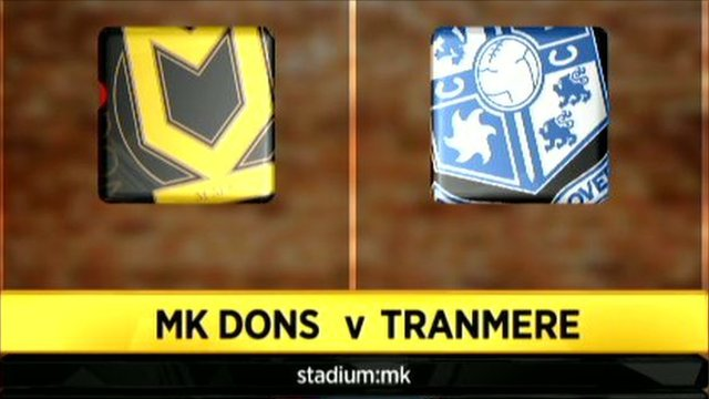 MK Dons 2-0 Tranmere