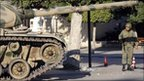 Tank and soldier in Tunis, 16 January 2011