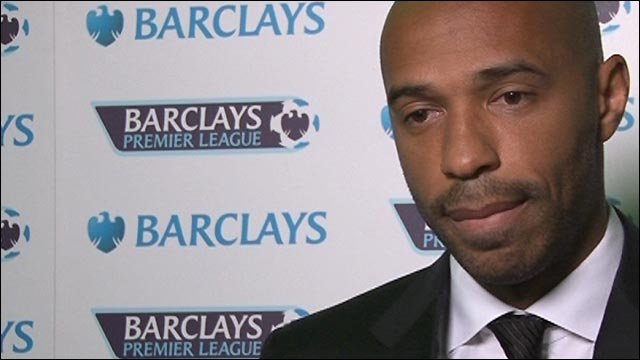 Thierry Henry at the Football Writers Association tribute night