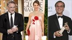 David Fincher, Natalie Portman and Aaron Sorkin at the Golden Globes